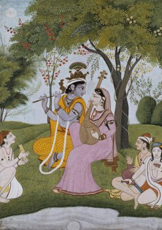 Krishna and Radha Making Music