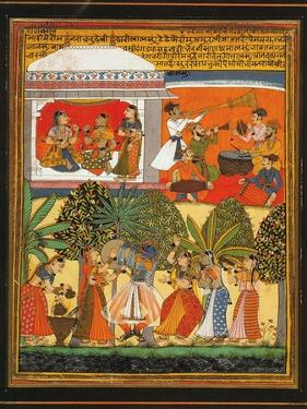 Krishna Dances with the Gopis