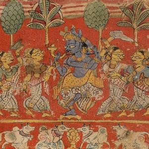 Krishna Dancing with Gopis in Vrindavan