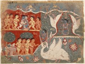 Krishna Kills the Crane Demon