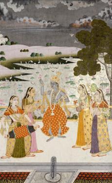 Krishna with the Gopis, Rajesthan, Possibly Bikaner, circa 1760