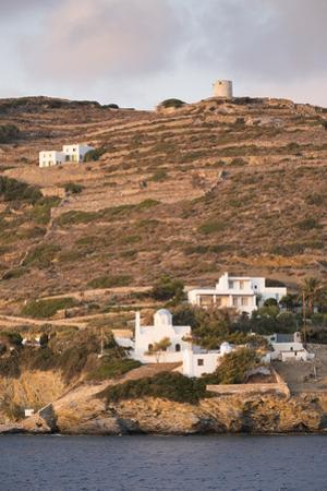 A Tiny Village on the Cycladic Island of Amorgos in Greece