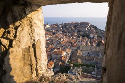 Franciscan Monastery and Rooftops by Sea in Dubrovnik, Croatia