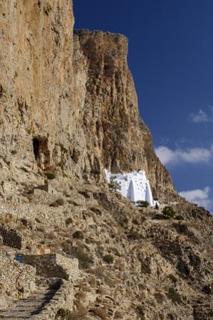 Hozoviotissa Monastery in Amorgos, Greece