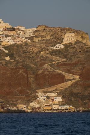 The Town of Oia with its Steep Donkey Path Leading from the Port Up to the Main Town