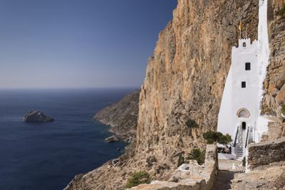 The Whitewashed Monastery of Panagia Hozoviotissa on the Cycladic Island of Amorgos