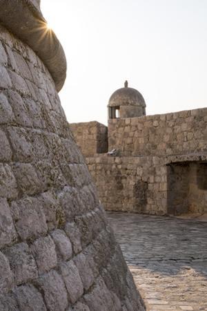 Turret Along the City Walls in Dubrovnik, Croatia