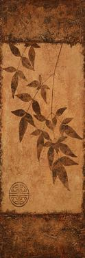 Vert Leaves Choc Brown Left by Kristin Emery