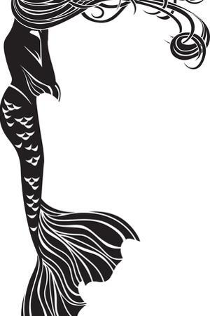 Crying Mermaid Stencil by kristina0702