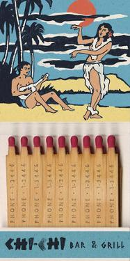 Chi Chi Bar And Grill Matchbook by Kristine Hegre