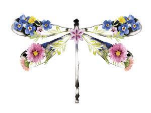 Fantasia Floral Dragonfly by Kristine Hegre