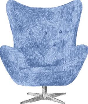 Silla Azul by Kristine Hegre