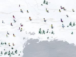 Snow Day - Ski Time by Kristine Hegre