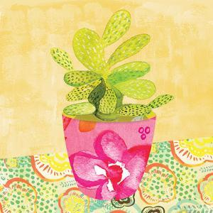 Floral Cacti Pots 3 by kristine lombardi