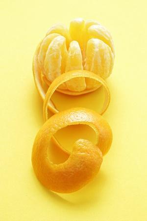 Orange Peel and Orange (Segments Separated)
