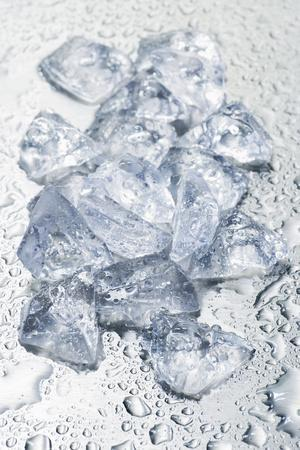 Pieces of Crushed Ice Cubes