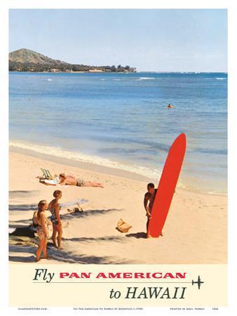 Fly Pan American to Hawaii - Pan American Airways by Kronfeld