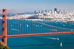 San Francisco Panorama W the Golden Gate Bridge by kropic