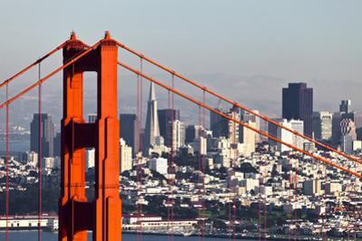 San Francisco with the Golden Gate Bridge by kropic