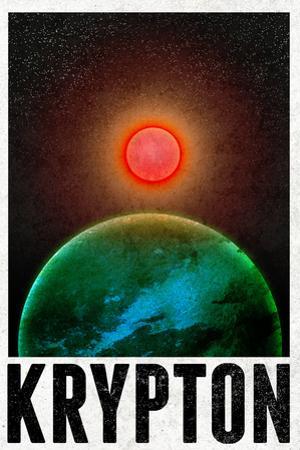 Krypton Retro Travel Plastic Sign