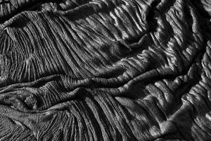 Close-up of pahoehoe lava, Sullivan Bay, Santiago, Galapagos by Krystyna Szulecka