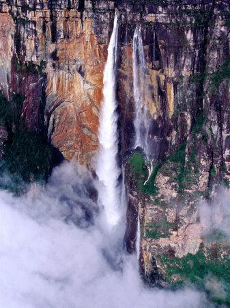 Aerial View of Angel Falls, Angel Falls, Venezuela