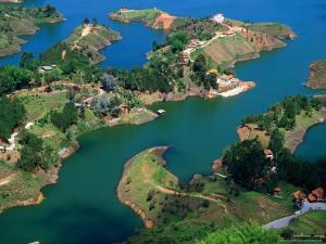 Aerial View of Embalse Del Penol, El Penon, Colombia by Krzysztof Dydynski