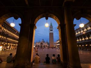 Basilica di San Marco and the Campanile, Venice, Italy by Krzysztof Dydynski