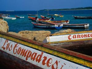 Boats on Waterfront of Chichiriviche with Islands in Background, Falcon, Venezuela by Krzysztof Dydynski