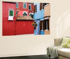 Brightly Coloured Houses by Krzysztof Dydynski