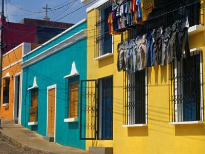 Brightly Painted Houses in Historic Centre of City, Ciudad Bolivar, Bolivar, Venezuela