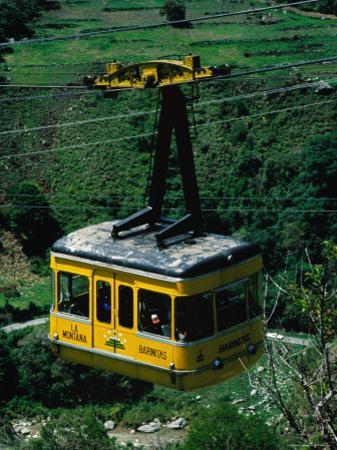 Cable-Car Travelling Up Mountain, Merida, Venezuela by Krzysztof Dydynski