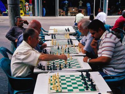 Chess Players at Boulevard de Sabana Grande, Caracas, Distrito Federal, Venezuela by Krzysztof Dydynski