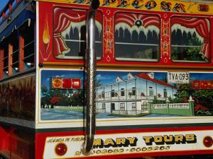Chiva Traditional Colombian Bus with Wooden Painted Body, Cartagena, Bolivar, Colombia by Krzysztof Dydynski
