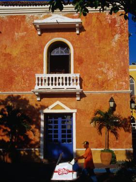 Colonial Building in Cartagena's Old City, Cartagena, Bolivar, Colombia by Krzysztof Dydynski