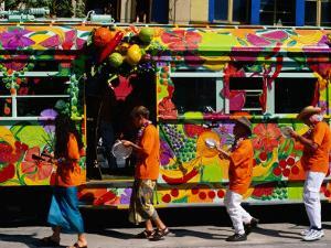 Decorated Tram at Moomba Festival, Melbourne, Australia by Krzysztof Dydynski