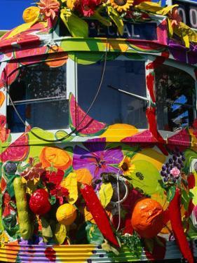 Decorated Tram, Part of Moomba Festival, Melbourne, Australia by Krzysztof Dydynski