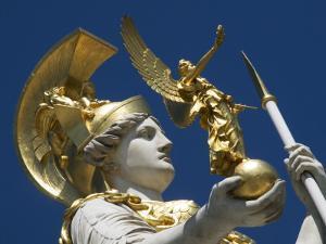 Detail of Athena Fountain at Parliament Building by Krzysztof Dydynski