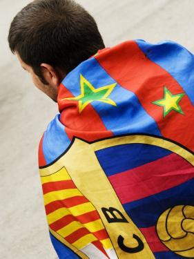 Fc Barcelona Foolball Fan at the Camp Nou Stadium, Barcelona, Catalonia, Spain by Krzysztof Dydynski