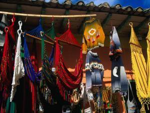 Hammocks and Clothing in Handicraft Shop, Raquira, Boyaca, Colombia by Krzysztof Dydynski