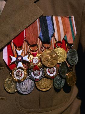 Medals on Breast of War Veteran, Warsaw, Poland by Krzysztof Dydynski