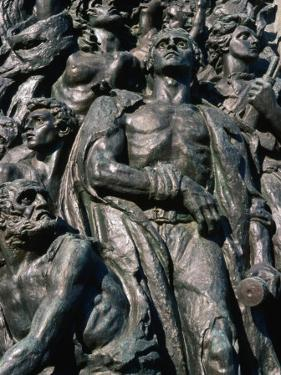 Monument of the Heroes Dedicated to Jews in the Warsaw Ghetto of WWII, Warsaw, Poland by Krzysztof Dydynski