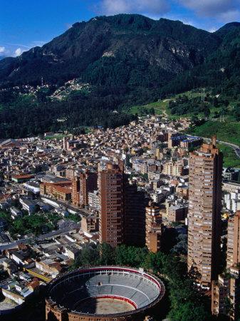 Plaza De Toros De Santamaria and Skyscraper Complex of Torres Del Parque, Bogota, Colombia