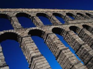 Roman Aqueduct Built in 1st Century AD, Segovia, Castilla-Y Leon, Spain by Krzysztof Dydynski