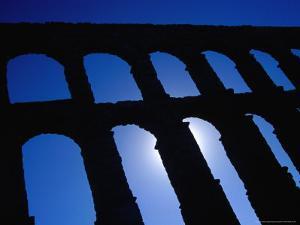Roman Aqueduct Built in the 1st Century AD, Segovia, Castilla-Y Leon, Spain by Krzysztof Dydynski