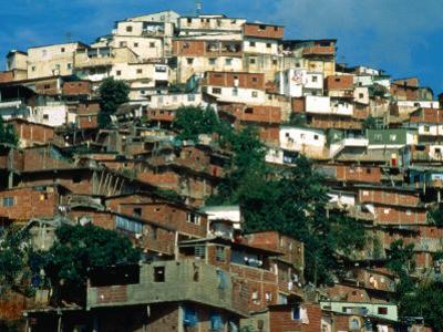 Shanty Houses on the Outskirts of Town, Caracas, Venezuela by Krzysztof Dydynski