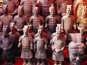 Souvenir Stall at Entrance to Grounds of Army of Terracotta Warriors (Bingmayong) by Krzysztof Dydynski