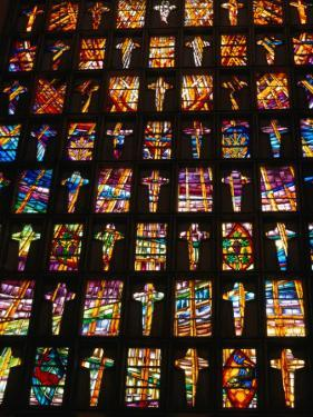 Stained Glass Windows of the Modern Cathedral, Barranquilla, Colombia by Krzysztof Dydynski