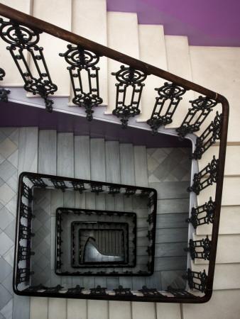 Staircase in Purple Nest Hostel