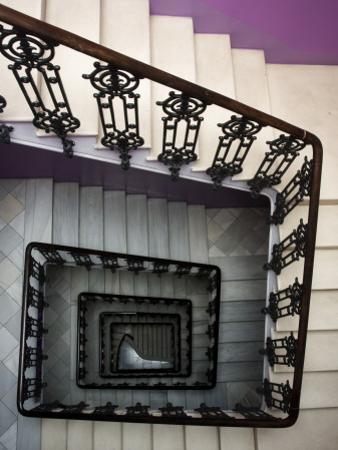 Staircase in Purple Nest Hostel by Krzysztof Dydynski